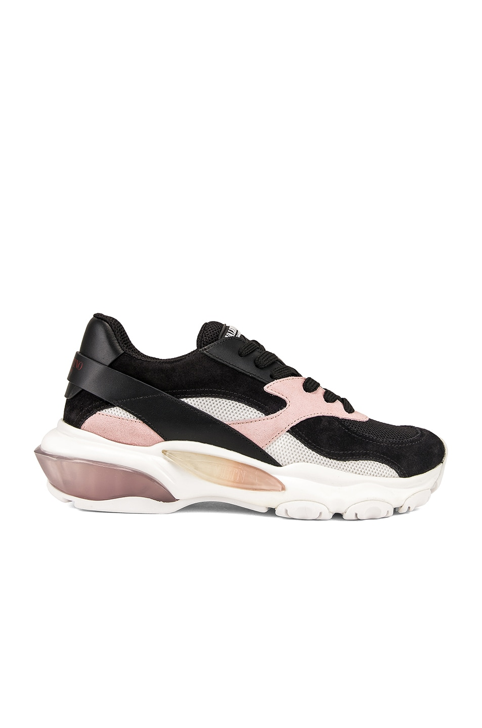 Image 1 of Valentino Bounce Sneakers in Black & Rose