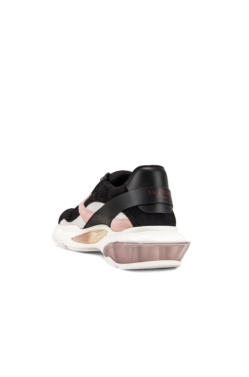 Image 3 of Valentino Bounce Sneakers in Black & Rose