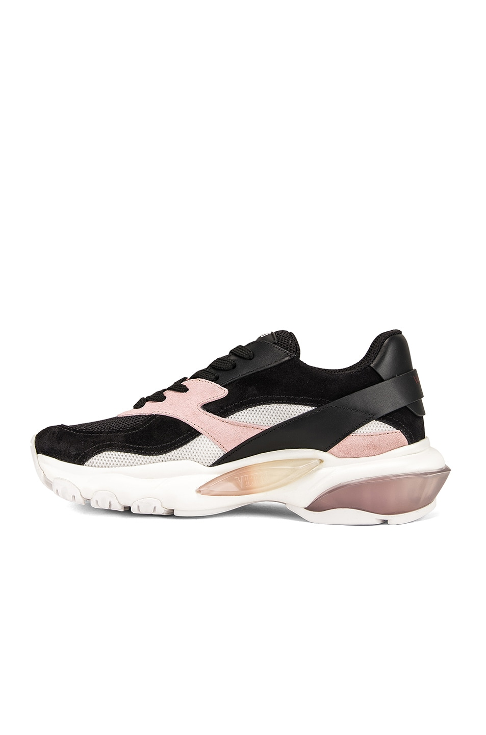 Image 5 of Valentino Bounce Sneakers in Black & Rose