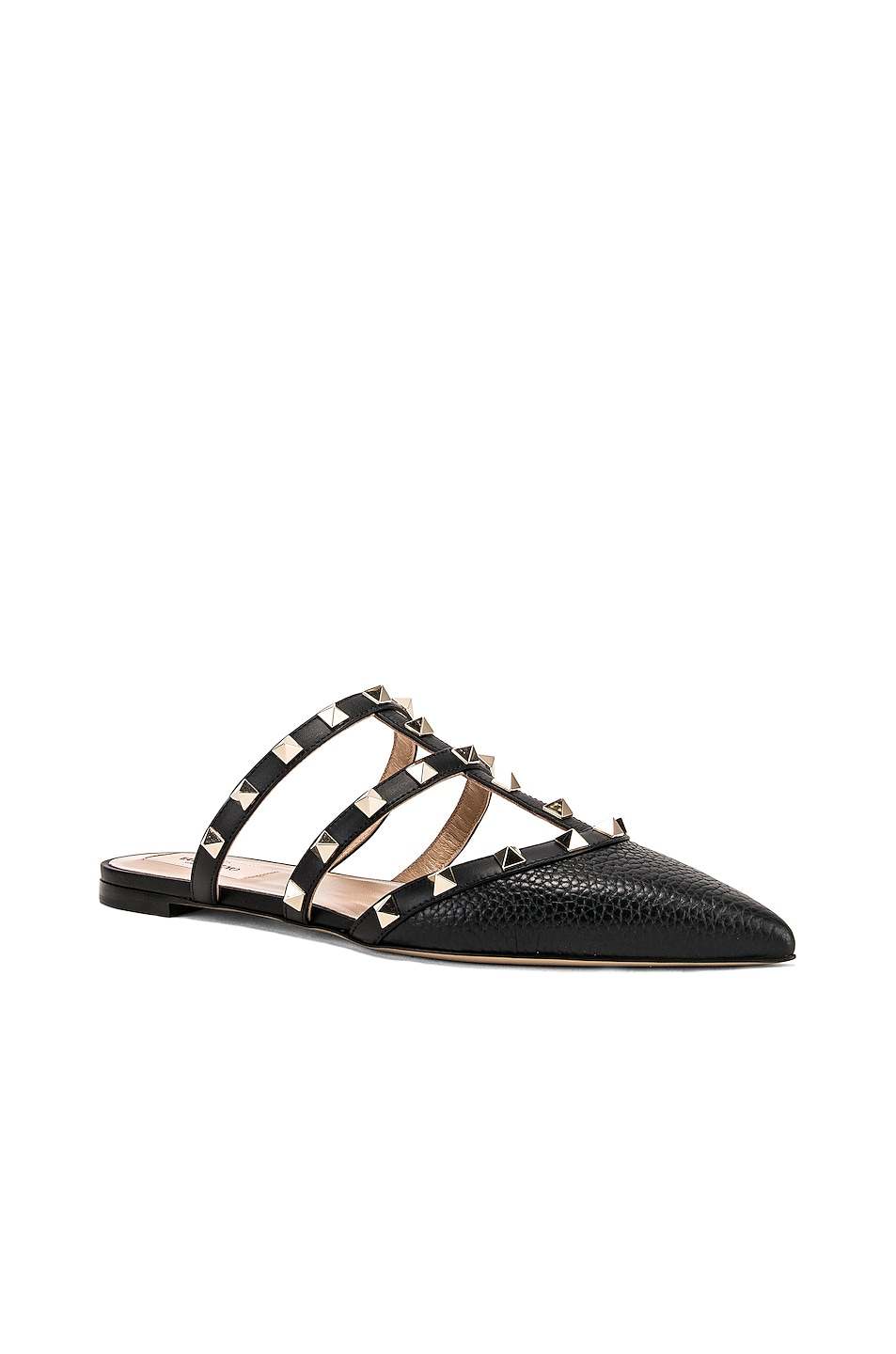 Image 2 of Valentino Rockstud Slide in Nero