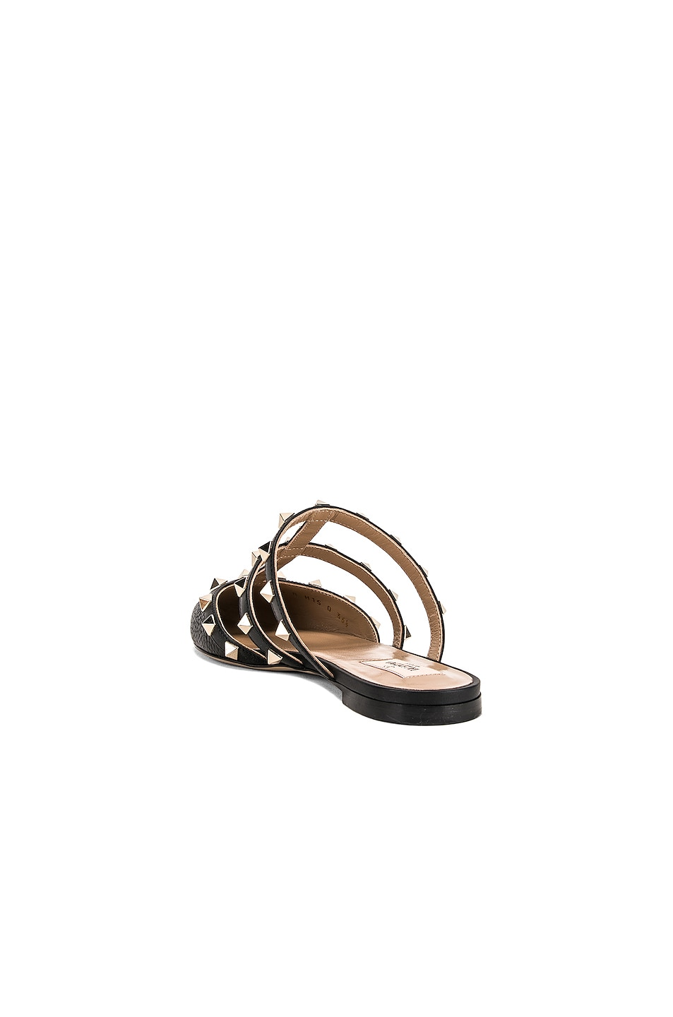 Image 3 of Valentino Rockstud Slide in Nero