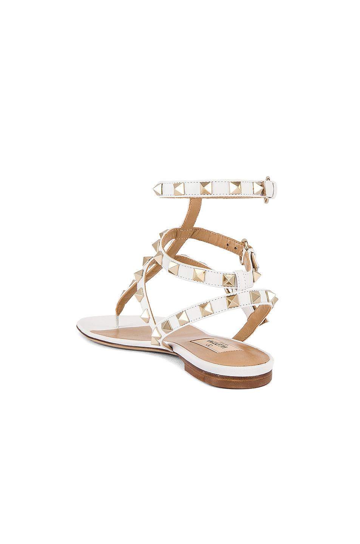 Image 3 of Valentino Rockstud Thong Sandal in Bianco Ottico