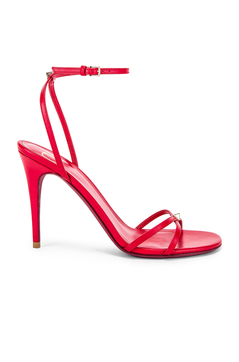 Image 1 of Valentino Strappy Heel in Rouge Pur