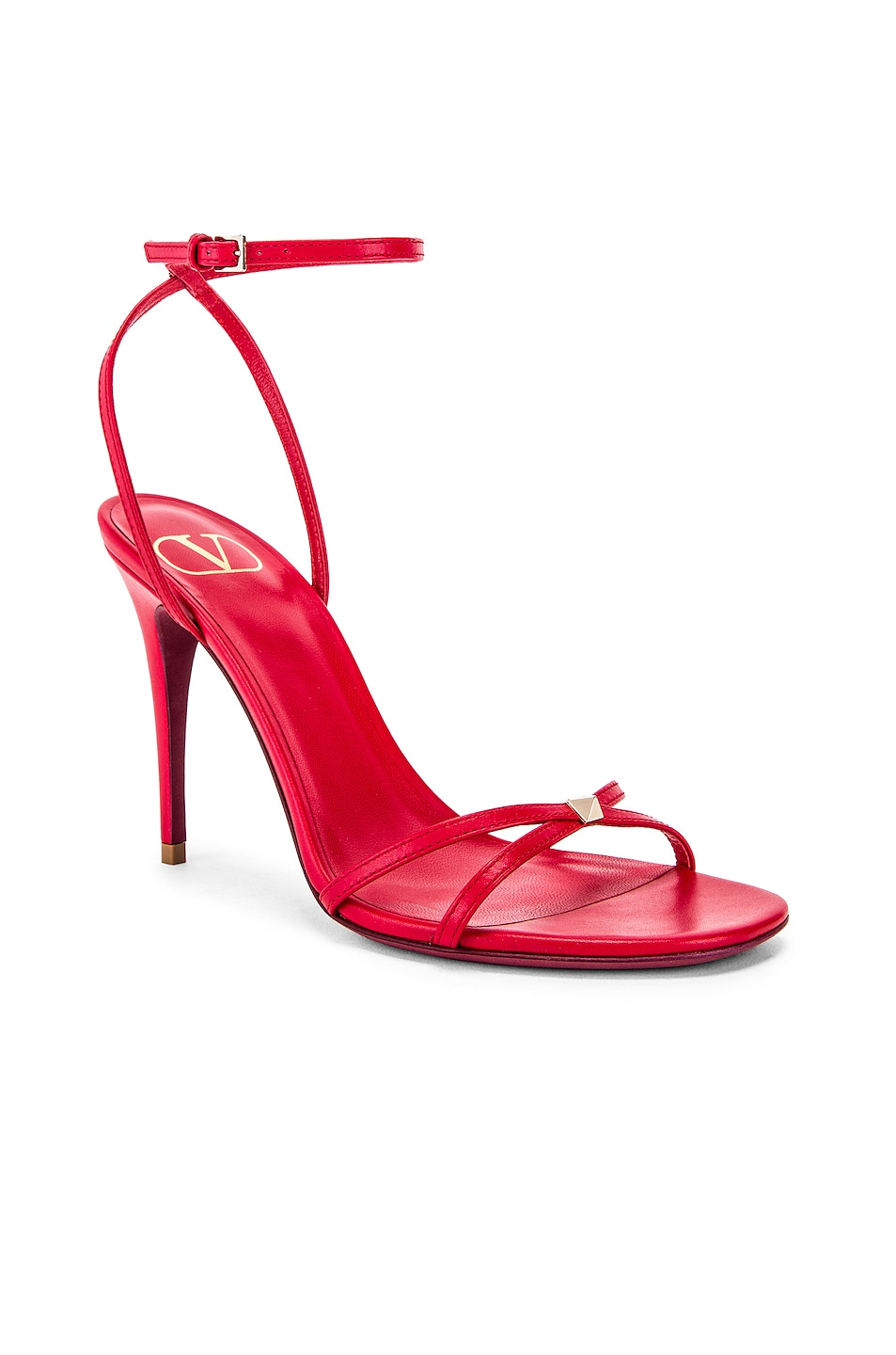 Image 2 of Valentino Strappy Heel in Rouge Pur