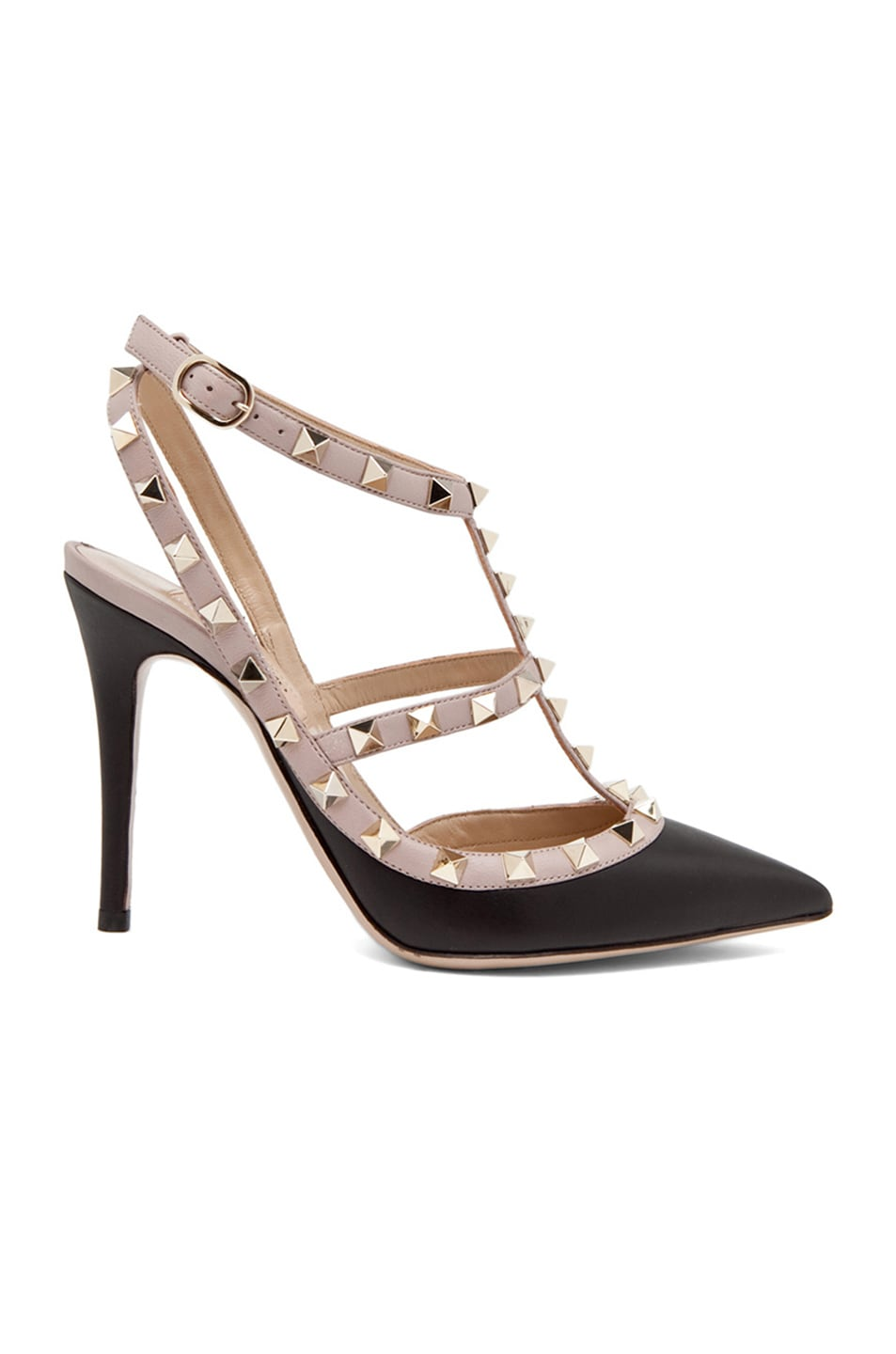 Image 1 of Valentino Rockstud Leather Slingbacks T.100 in Black