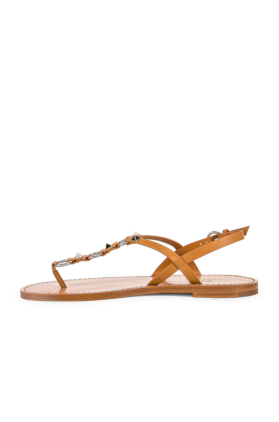 Image 5 of Valentino Cagestuds Thong Sandal in Tan