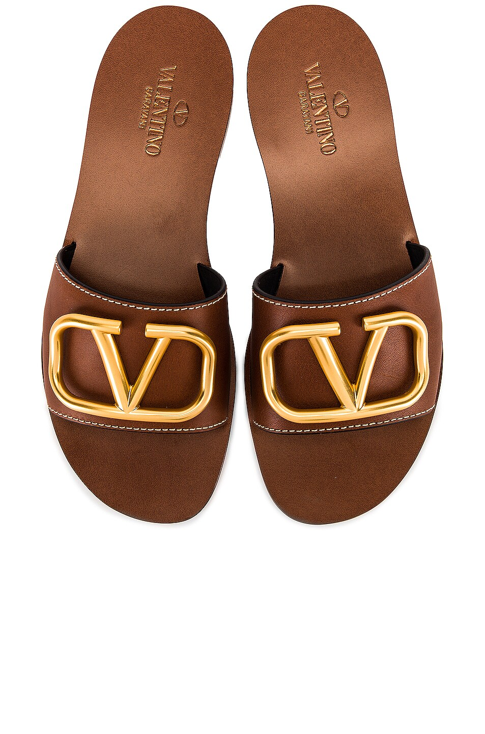 Image 1 of Valentino V Logo Slide in Cuoio