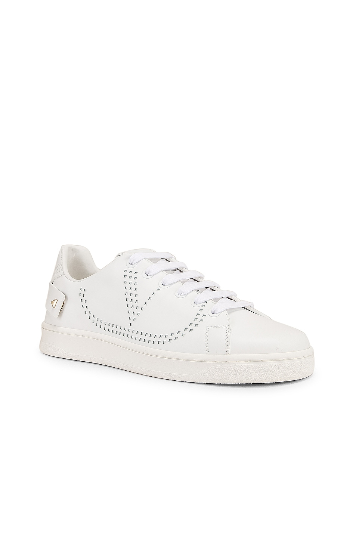 Image 2 of Valentino Net Sneaker in Bianco Ottico
