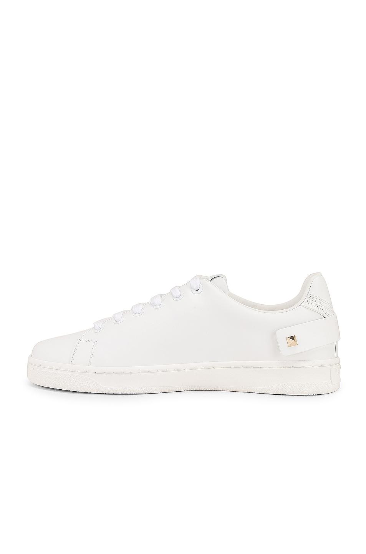 Image 5 of Valentino Net Sneaker in Bianco Ottico