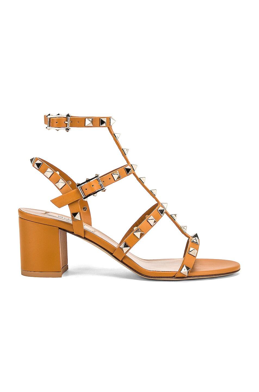 Image 1 of Valentino Rockstud Sandal in Tan