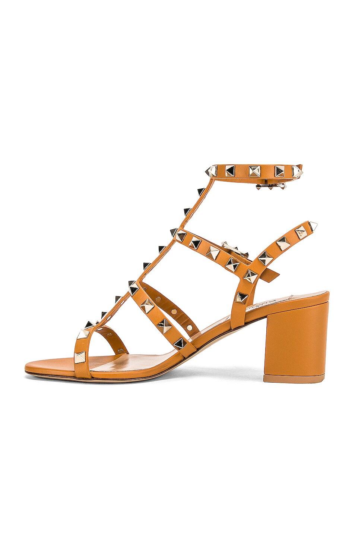 Image 5 of Valentino Rockstud Sandal in Tan