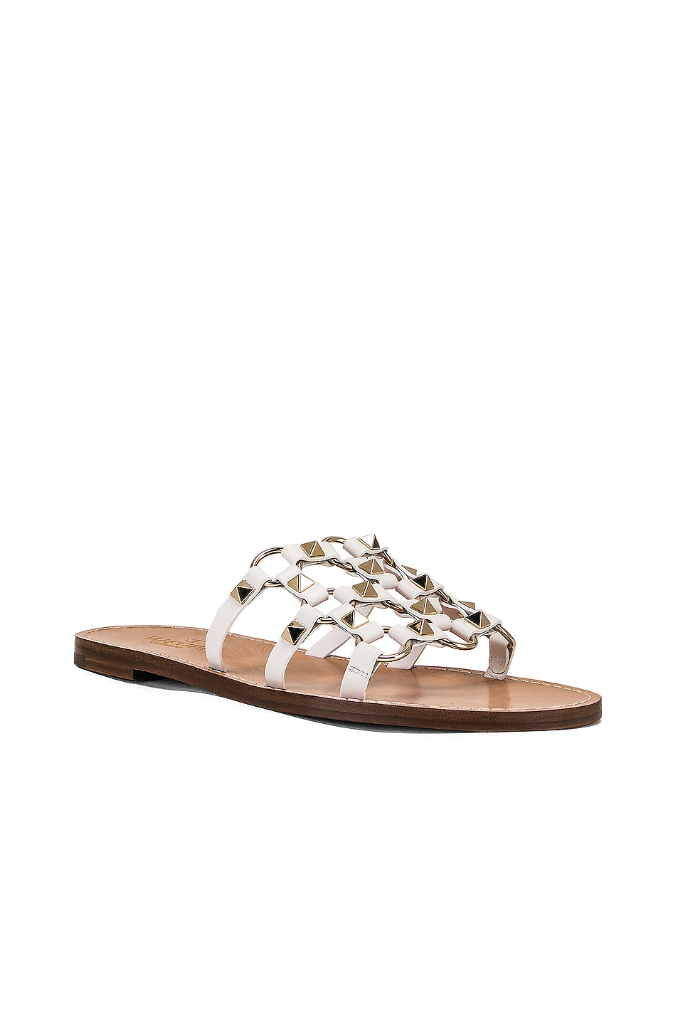 Image 2 of Valentino Cagestuds Sandal in Bianco Ottico