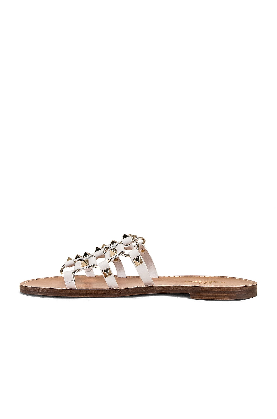 Image 5 of Valentino Cagestuds Sandal in Bianco Ottico