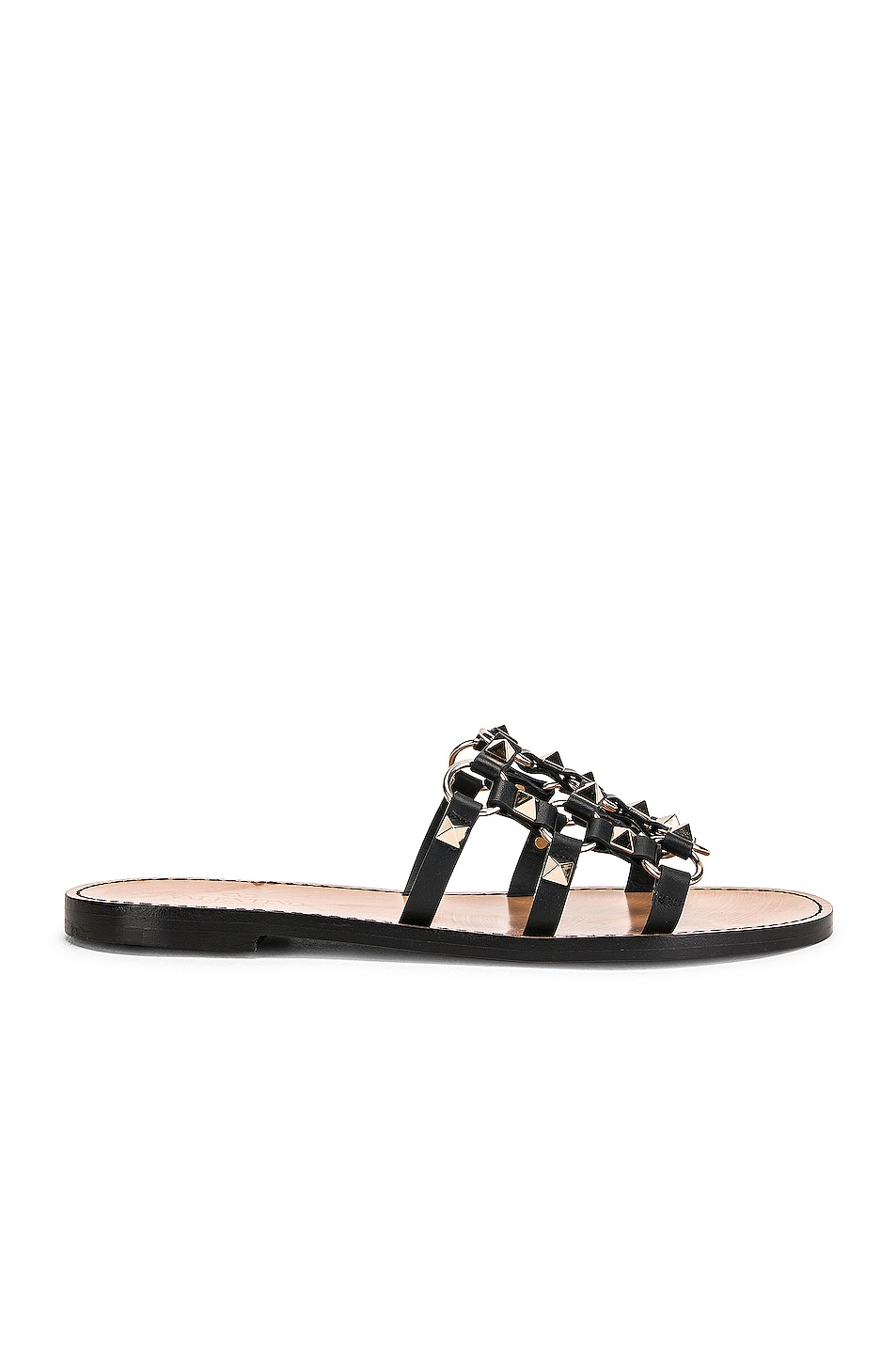 Image 1 of Valentino Cagestuds Sandal in Nero