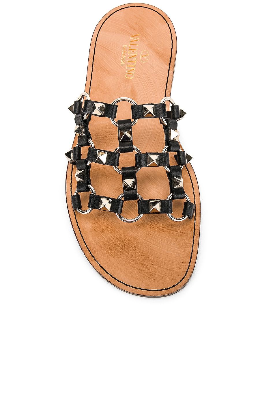 Image 4 of Valentino Cagestuds Sandal in Nero