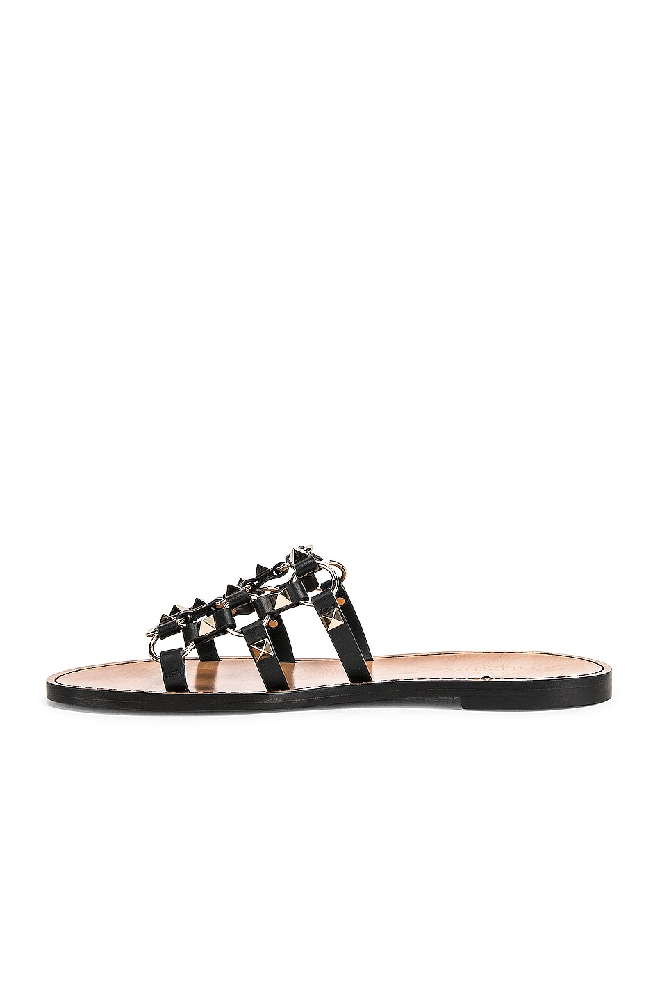 Image 5 of Valentino Cagestuds Sandal in Nero
