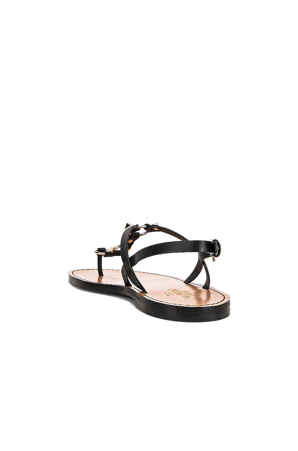 Image 3 of Valentino Cagestuds Thong Sandal in Nero