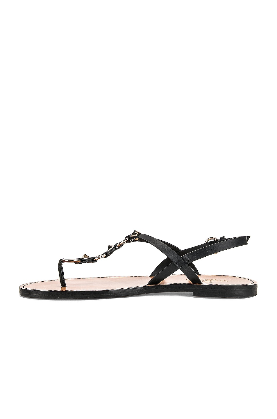 Image 5 of Valentino Cagestuds Thong Sandal in Nero