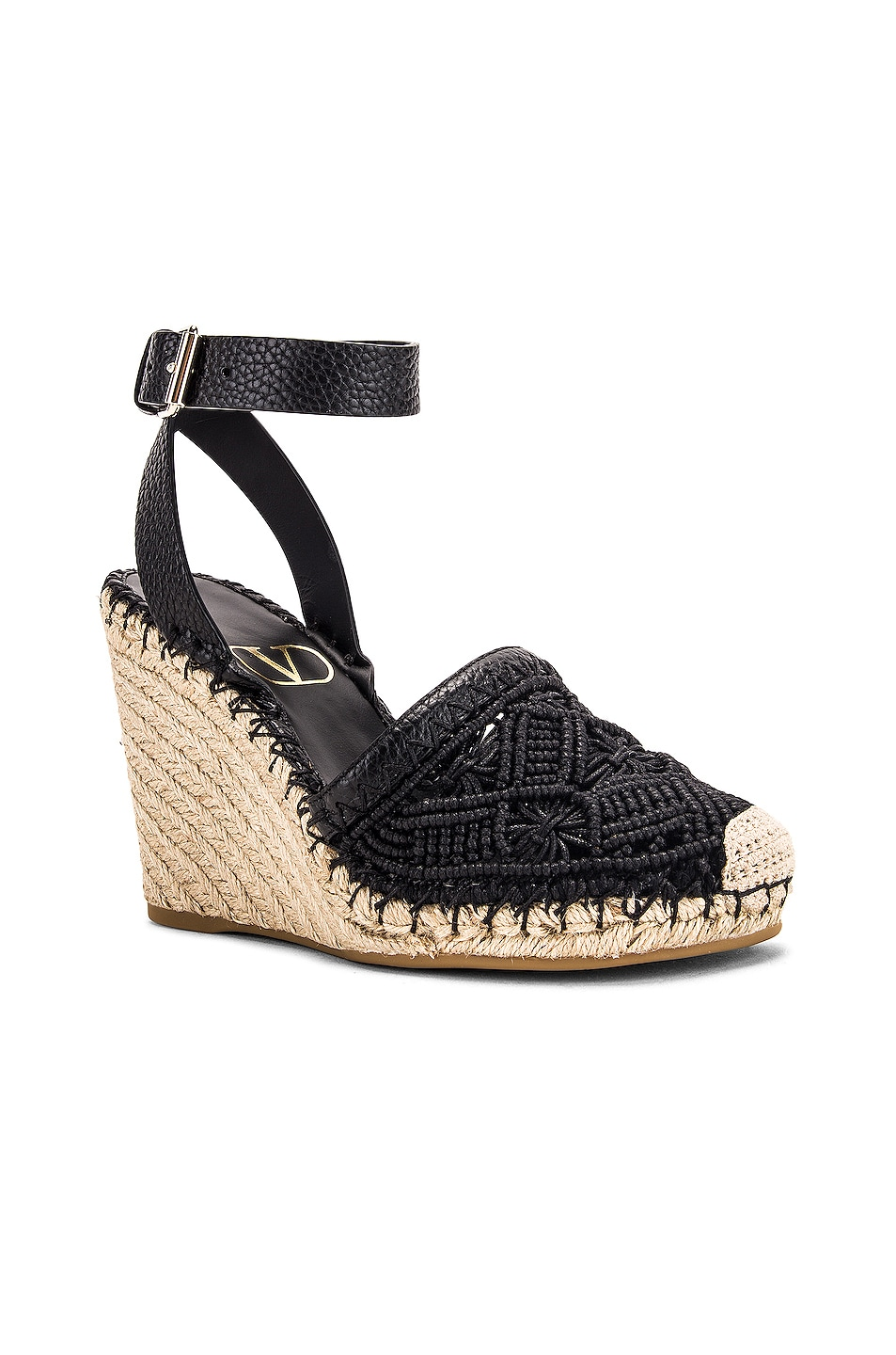 Image 2 of Valentino Marrakech Wedge Espadrille in Nero