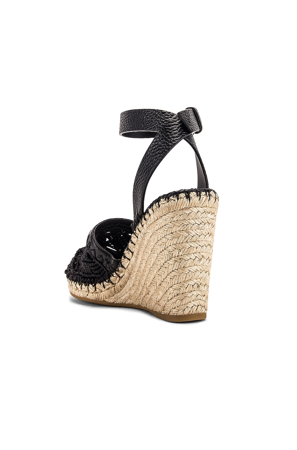 Image 3 of Valentino Marrakech Wedge Espadrille in Nero