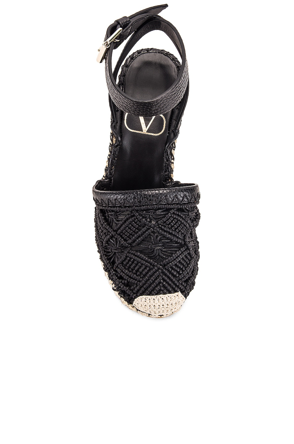 Image 4 of Valentino Marrakech Wedge Espadrille in Nero