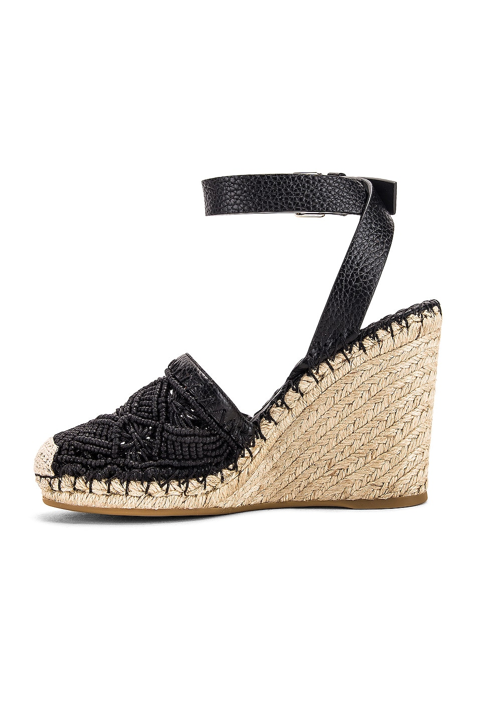 Image 5 of Valentino Marrakech Wedge Espadrille in Nero