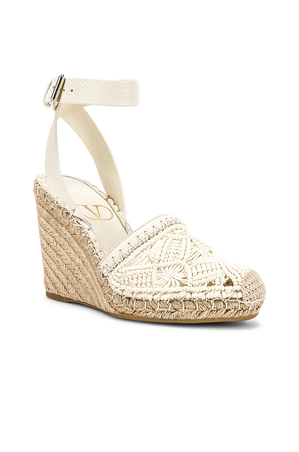 Image 2 of Valentino Marrakech Wedge Espadrille in Light Ivory