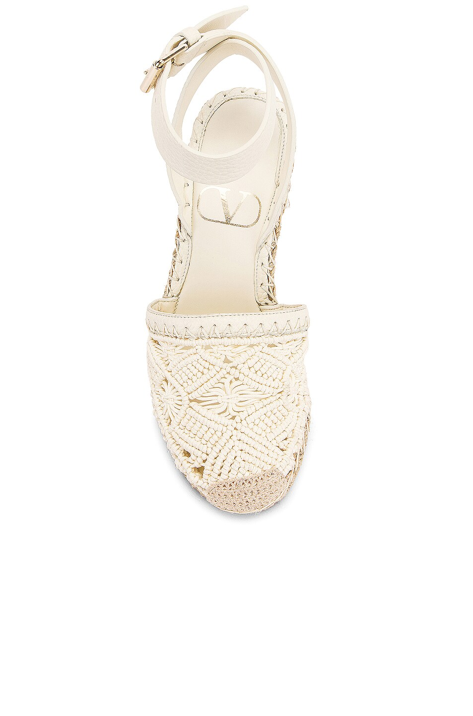 Image 4 of Valentino Marrakech Wedge Espadrille in Light Ivory
