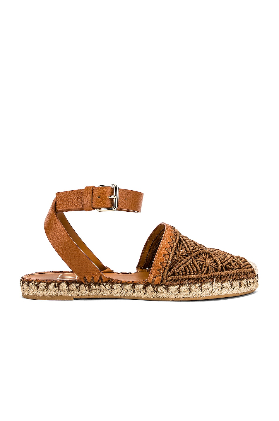 Image 1 of Valentino Marrakech Flat Espadrille in Tan