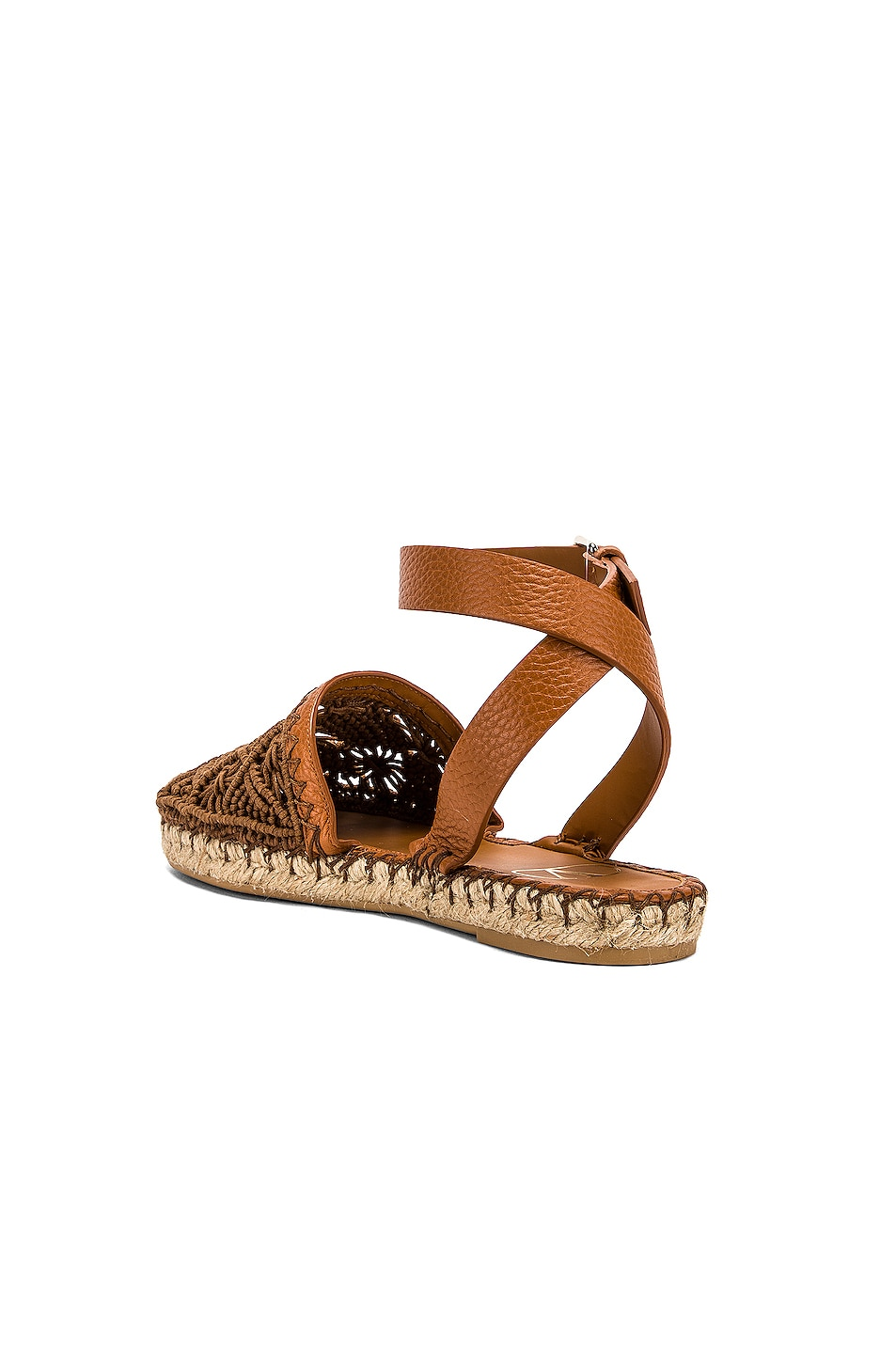 Image 3 of Valentino Marrakech Flat Espadrille in Tan