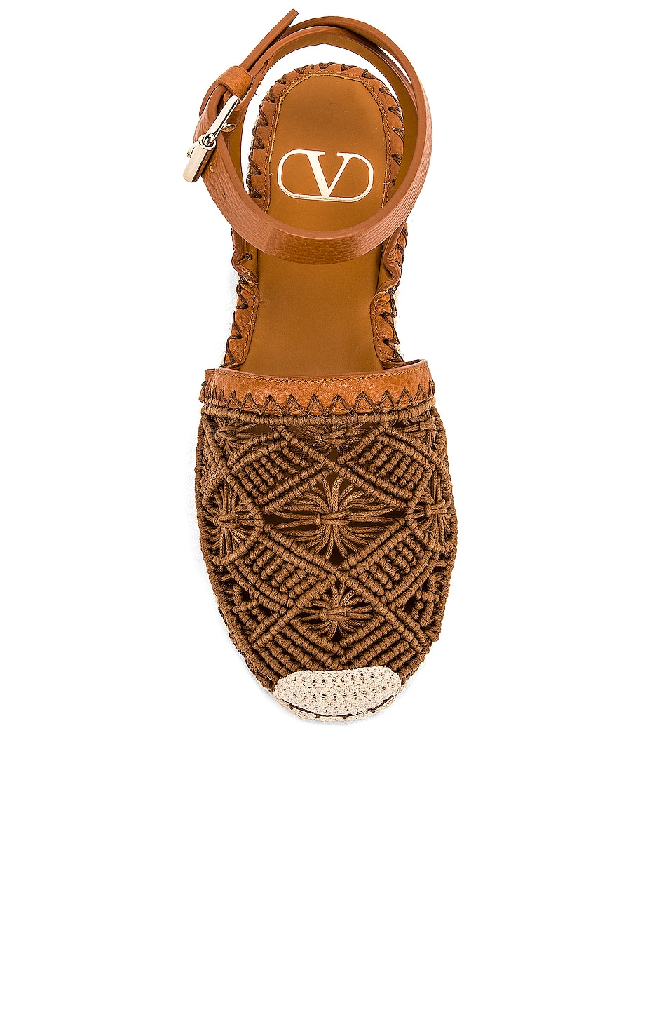 Image 4 of Valentino Marrakech Flat Espadrille in Tan