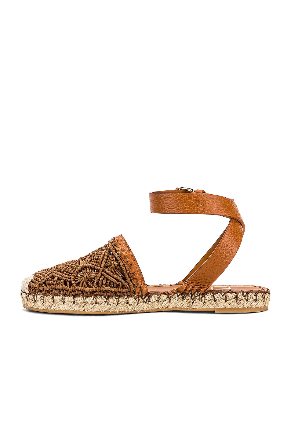 Image 5 of Valentino Marrakech Flat Espadrille in Tan