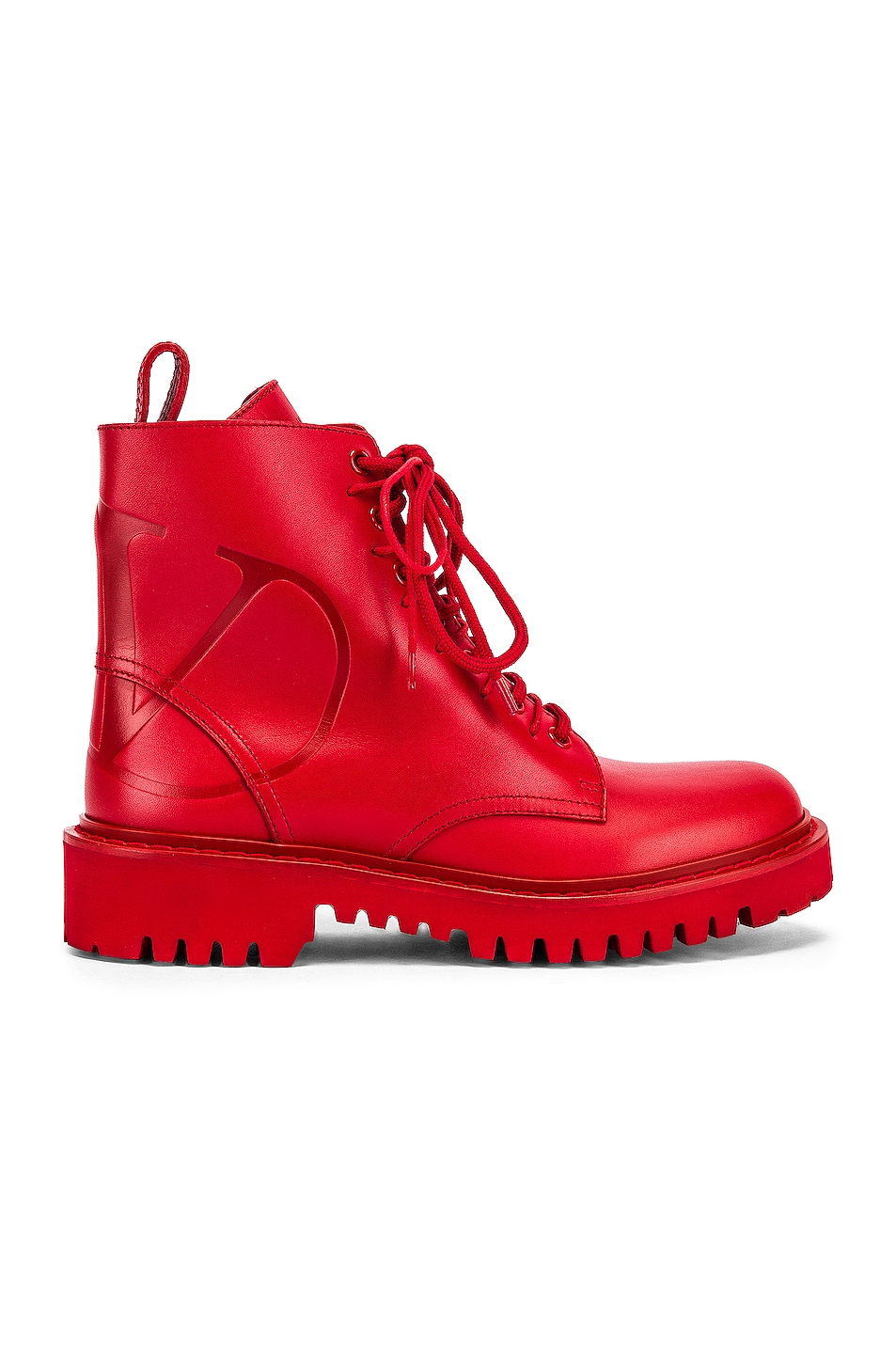 Image 1 of Valentino V Logo Boots in Red