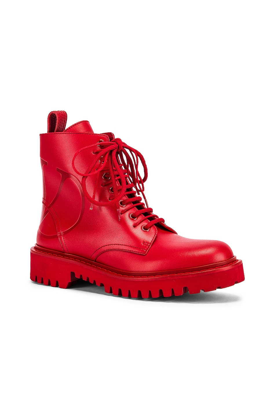 Image 2 of Valentino V Logo Boots in Red