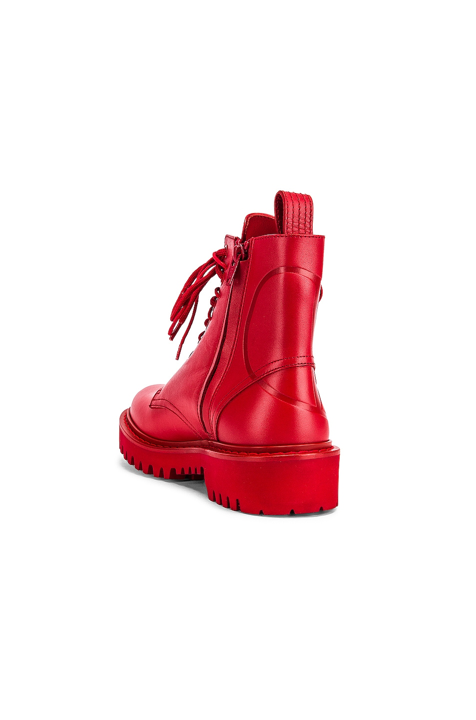 Image 3 of Valentino V Logo Boots in Red