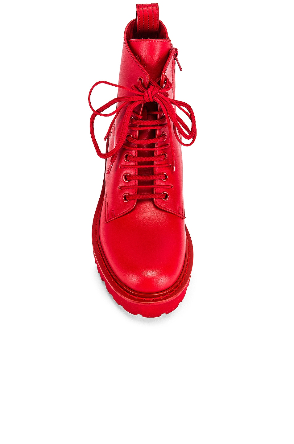 Image 4 of Valentino V Logo Boots in Red