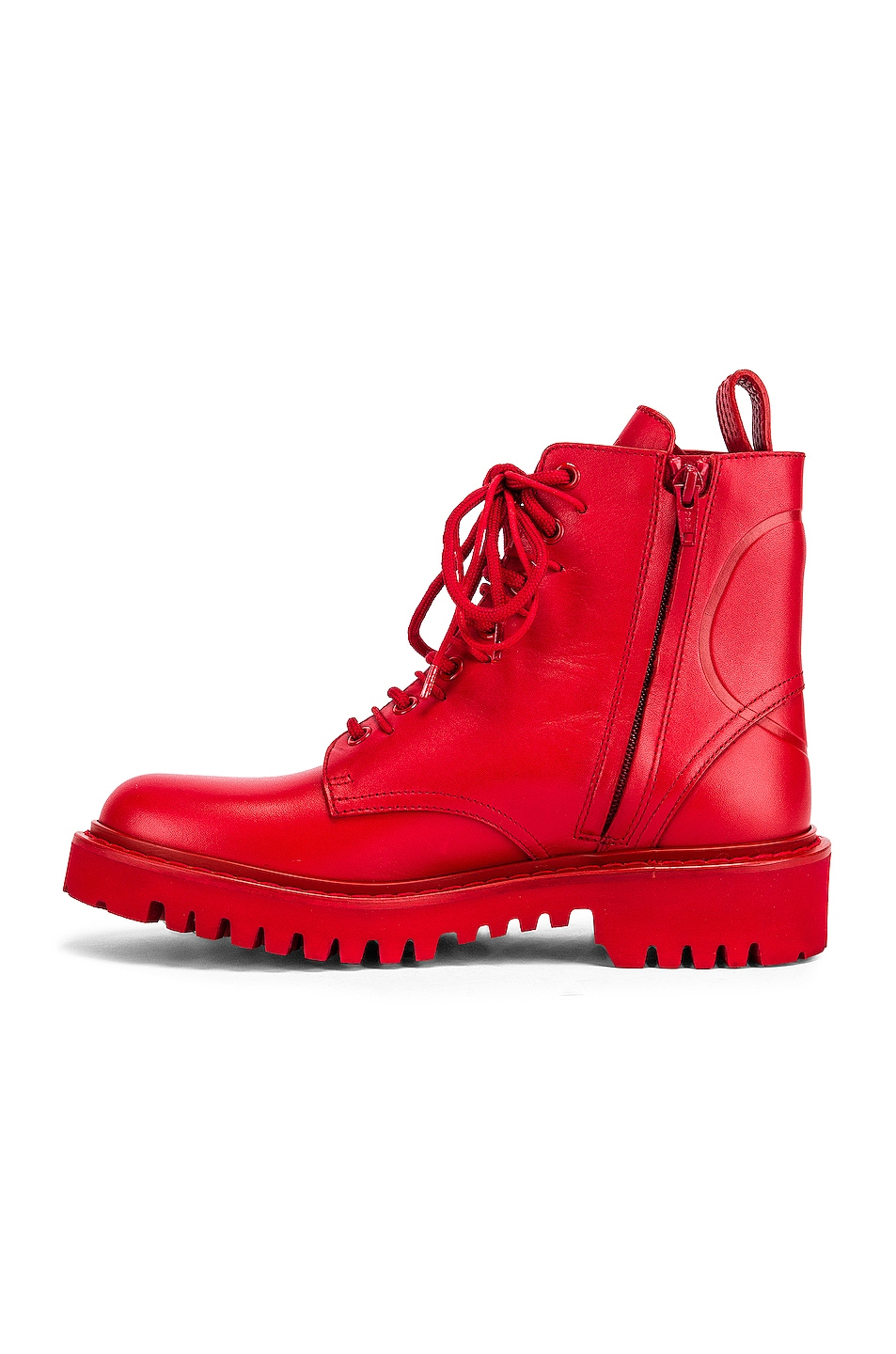 Image 5 of Valentino V Logo Boots in Red