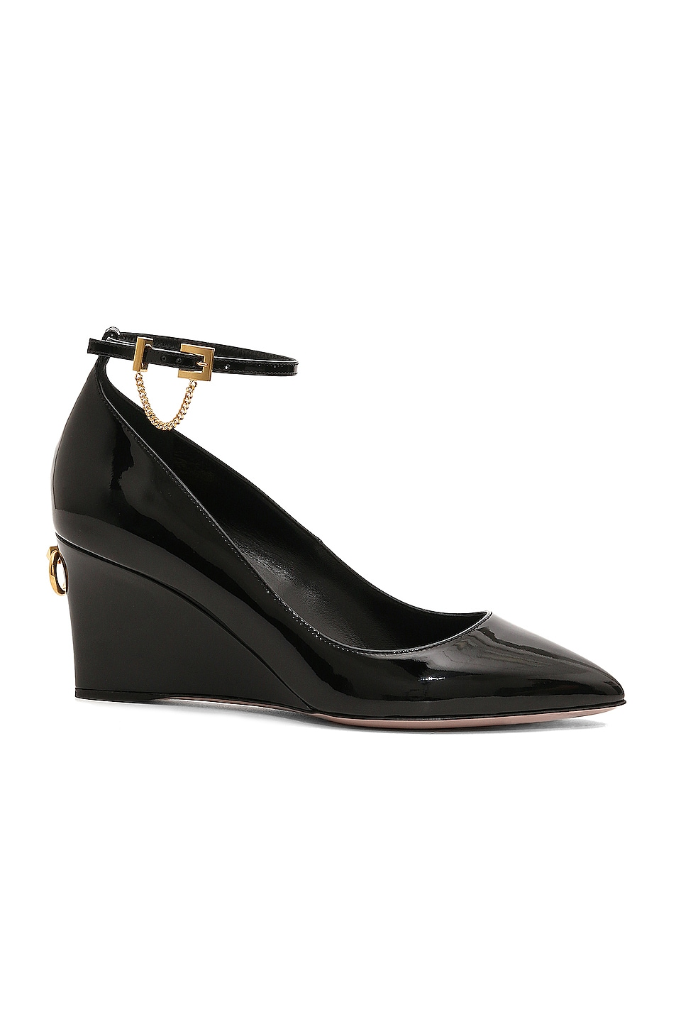 Image 1 of Valentino Ring Stud Wedges in Black