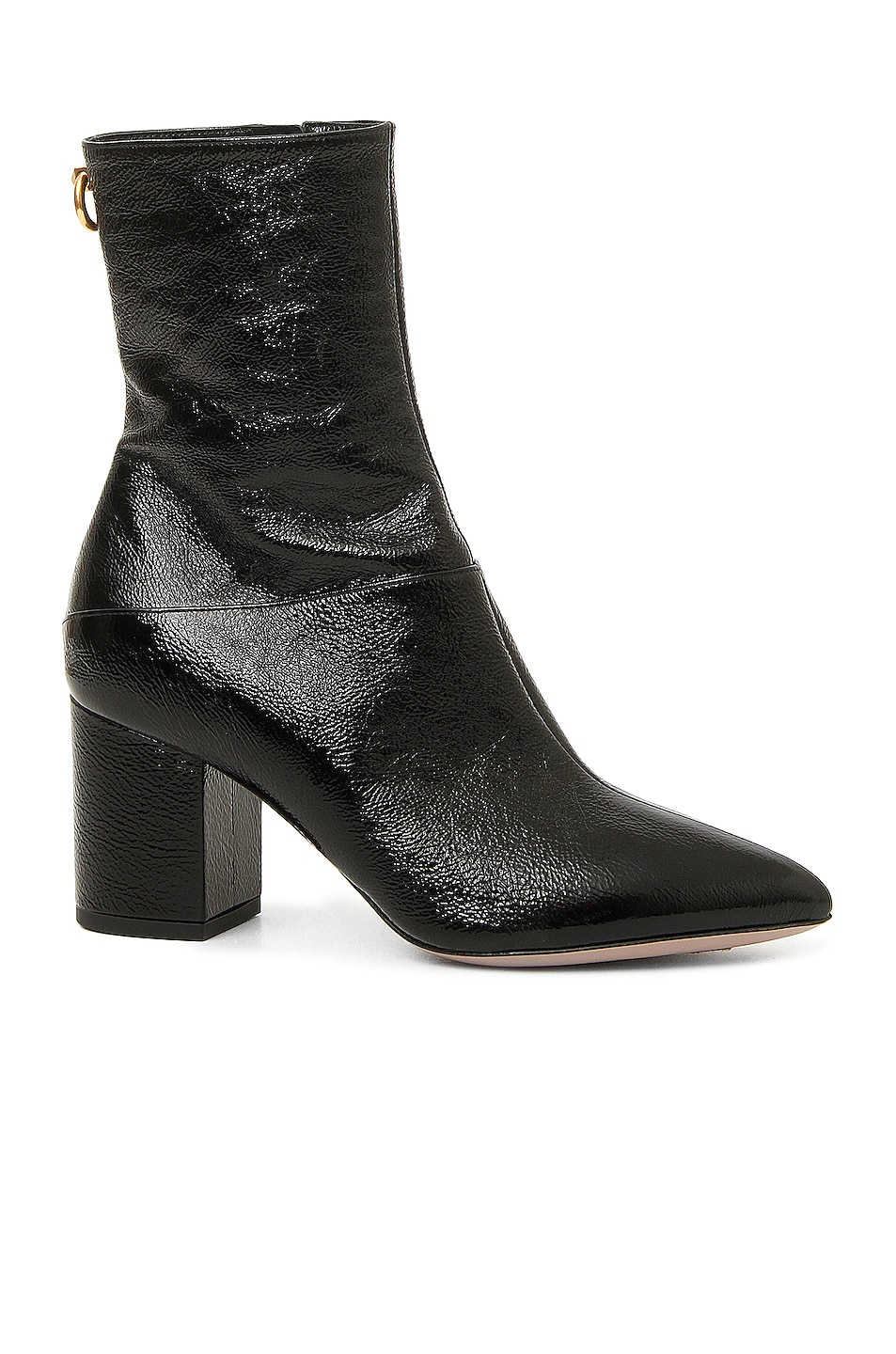 Image 1 of Valentino Ring Stud Booties in Black