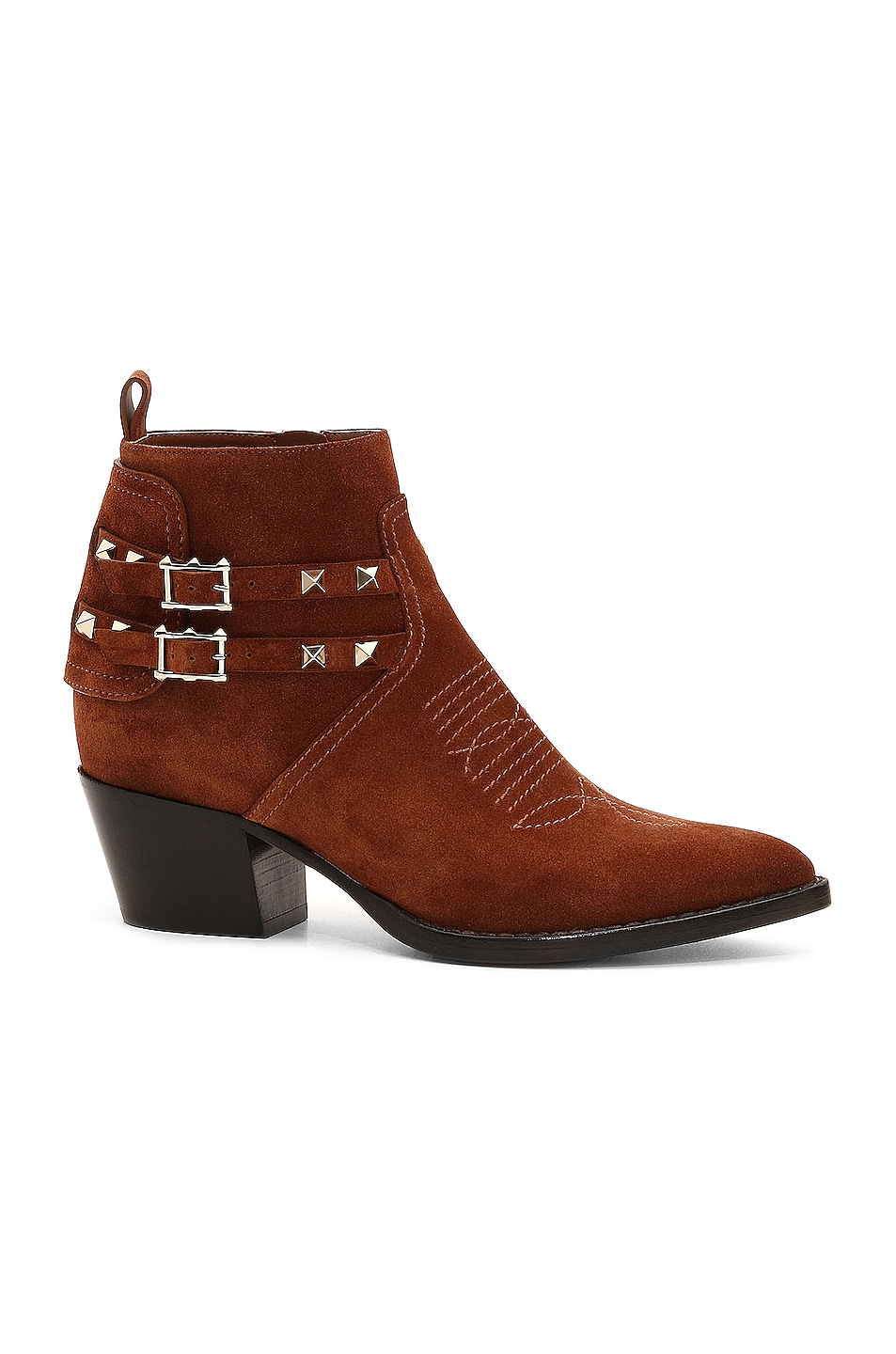 Image 1 of Valentino Rockstud Booties in Selleria