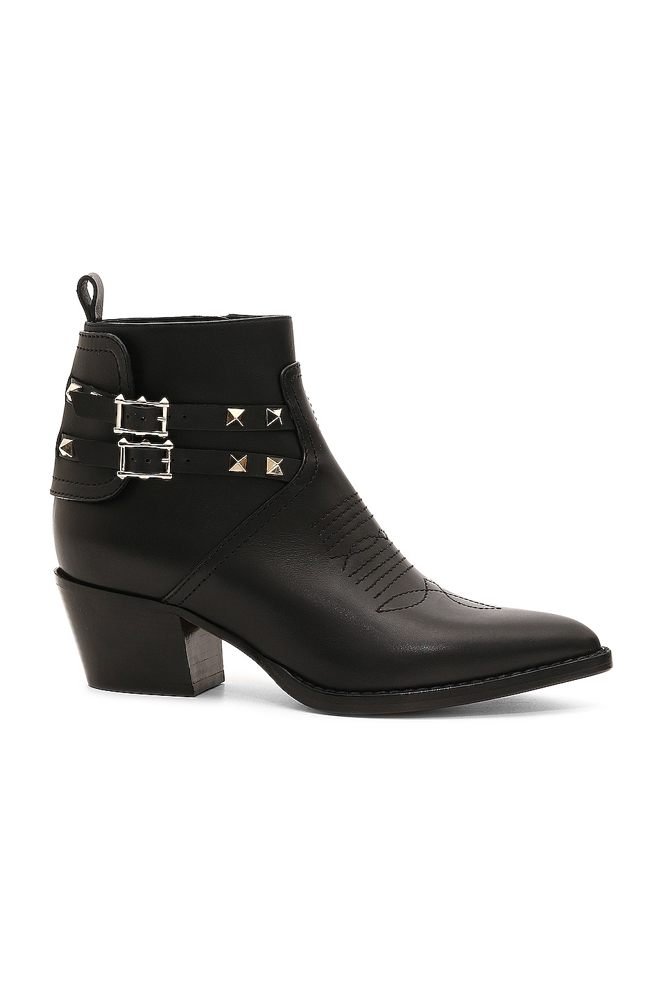 Image 1 of Valentino Rockstud Booties in Black