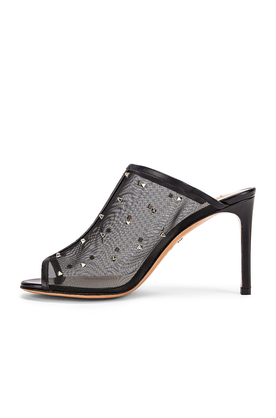 Image 5 of Valentino Mesh Open Toe Heels in Black