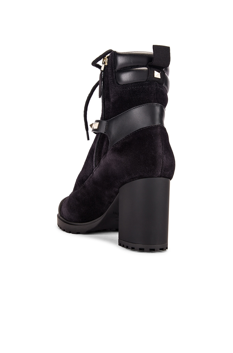 Image 3 of Valentino Rockstud Combat Boots in Black