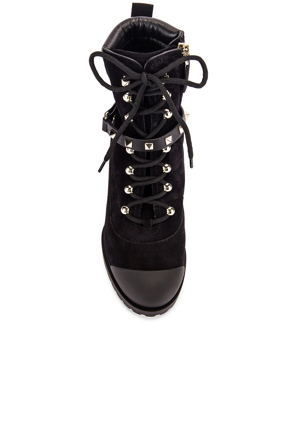Image 4 of Valentino Rockstud Combat Boots in Black