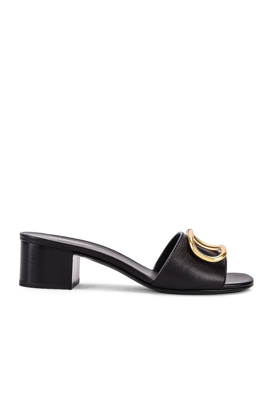 Image 1 of Valentino VLogo Slides in Black