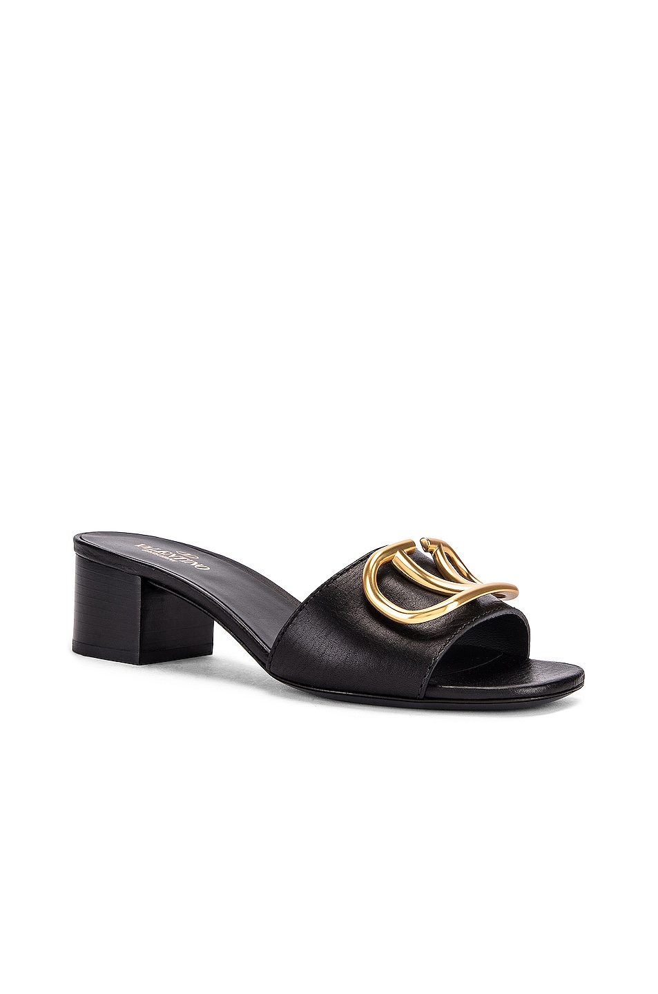 Image 3 of Valentino VLogo Slides in Black