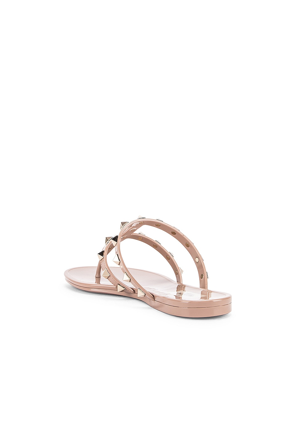 Image 3 of Valentino Rockstud Summer Thong Sandals in Poudre