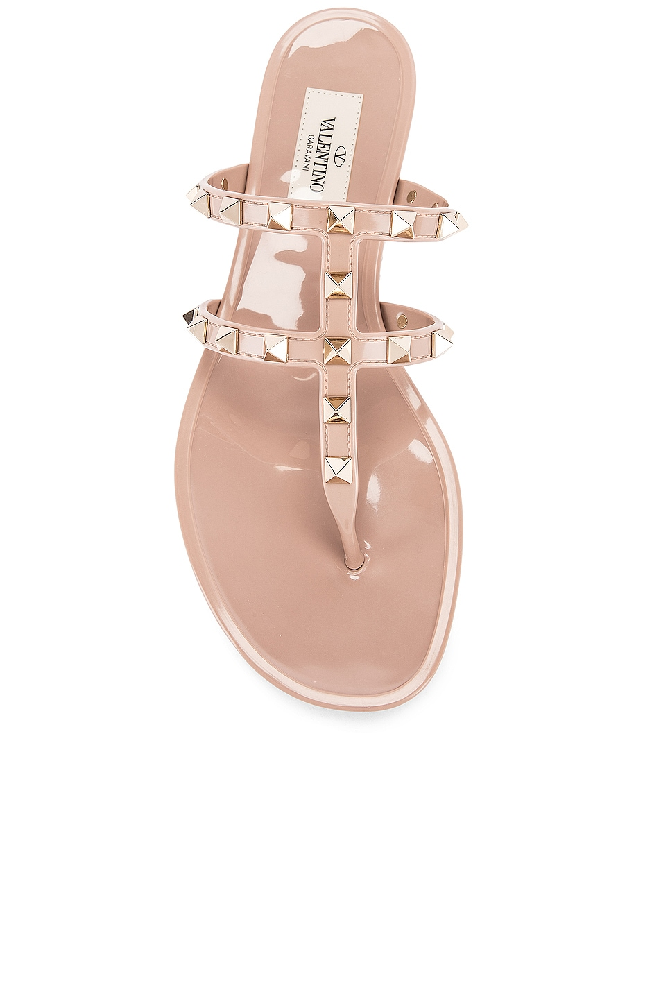 Image 4 of Valentino Rockstud Summer Thong Sandals in Poudre