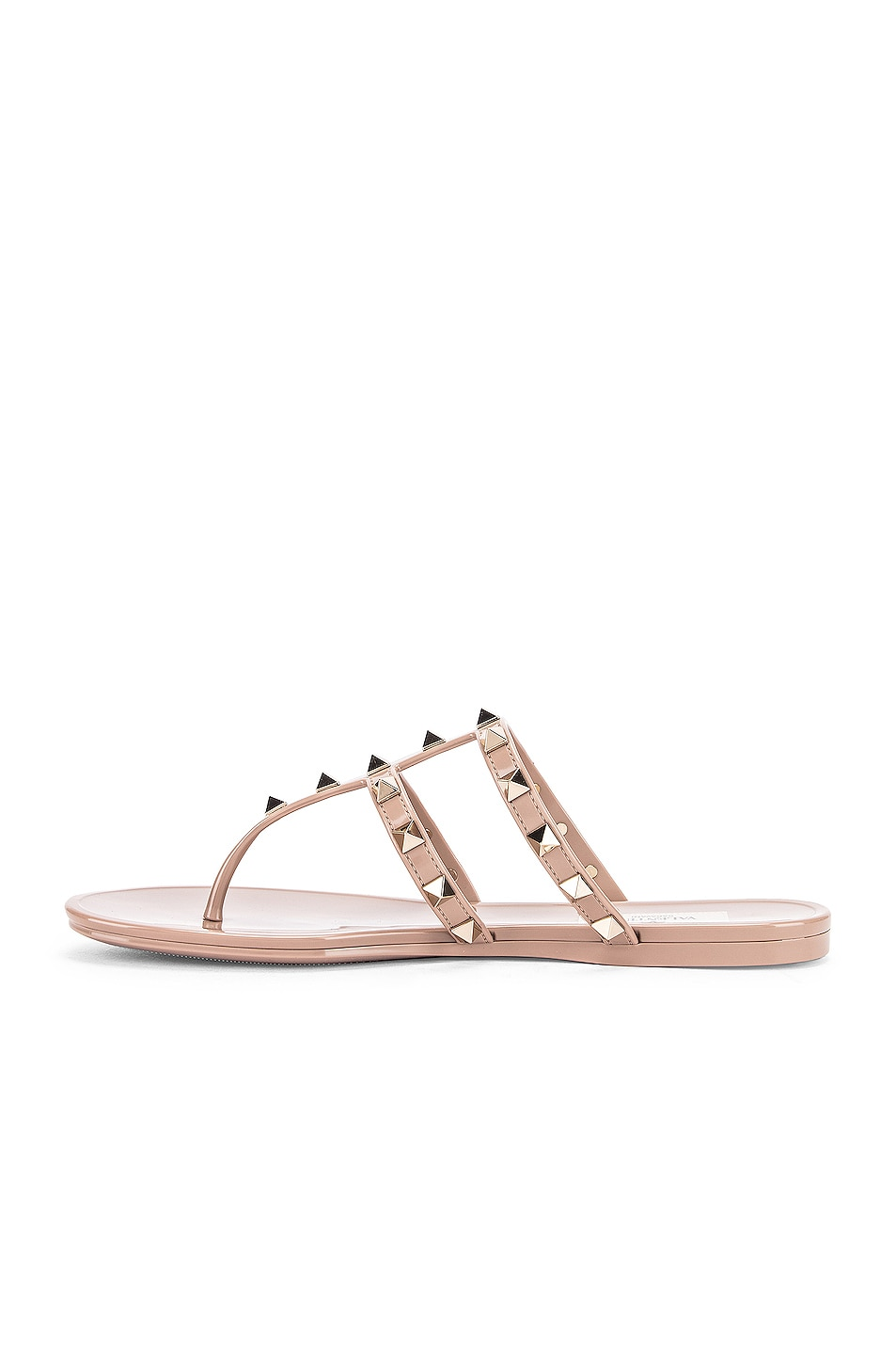 Image 5 of Valentino Rockstud Summer Thong Sandals in Poudre