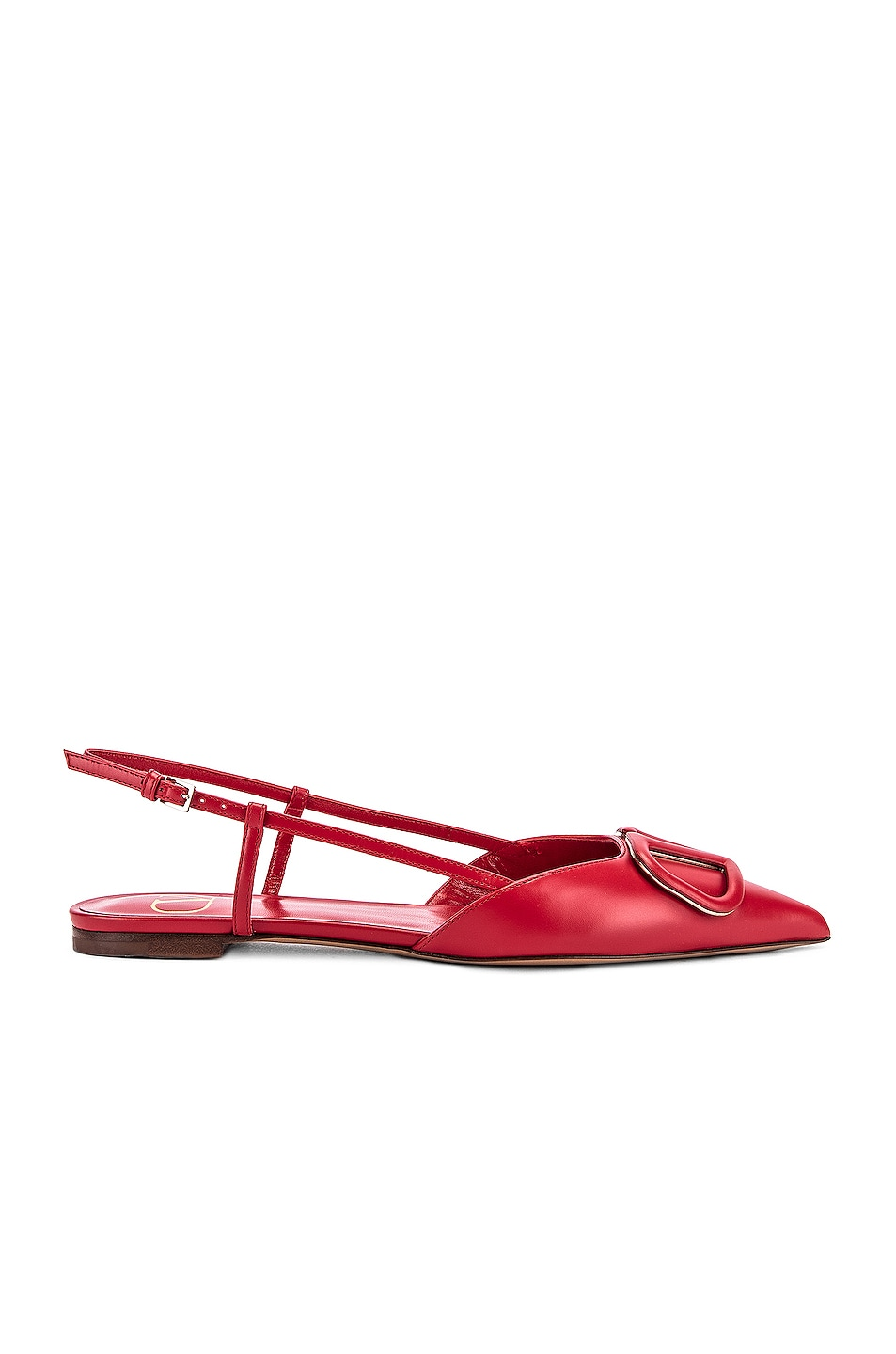 Image 2 of Valentino VLogo Ballerina Flats in Red